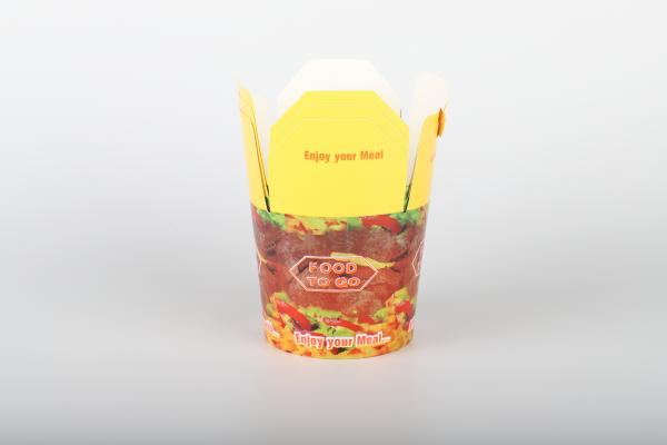 500 Stück Dönerbox Foodbox Nudelbox Box to go Hartpapier 710ml / 24oz / 72cl