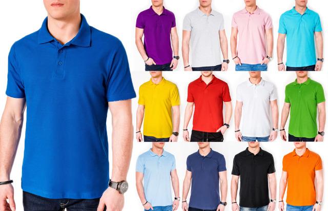 Herren Men Sommer Trend Polo Shirt T-Shirt Basic Plain Sweatshirt Kurzarm T-Shirts - 7,90 Euro