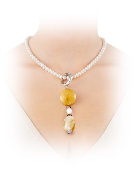 Kette Perlenkette Lederband Anhänger Magnetschließe Schmuck NEU