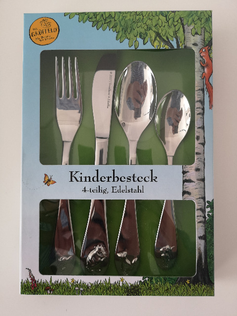 Der Grüffelo 4tlg. Kinderbesteck Edelstahl Gabel Messer 2x Löffel NEU OVP
