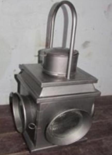 Laterne Alwin 30x60 Eisen grau