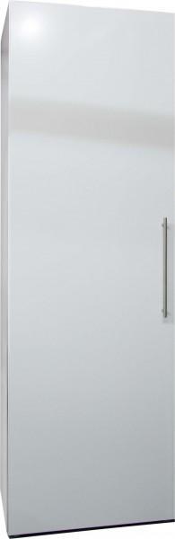 Hochschrank Metall 60, Weiß, Türanschlag links, Stangengriff