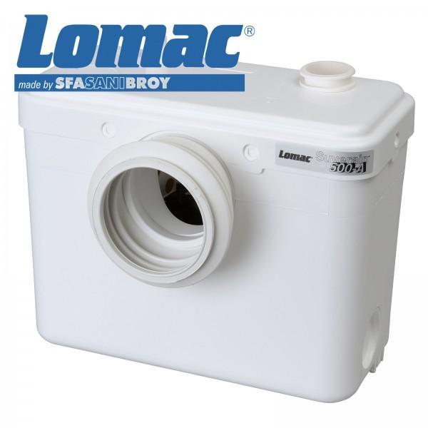 Lomac Suverain 500-A WC Hebeanlage Fäkalienpumpe mit Schneid...