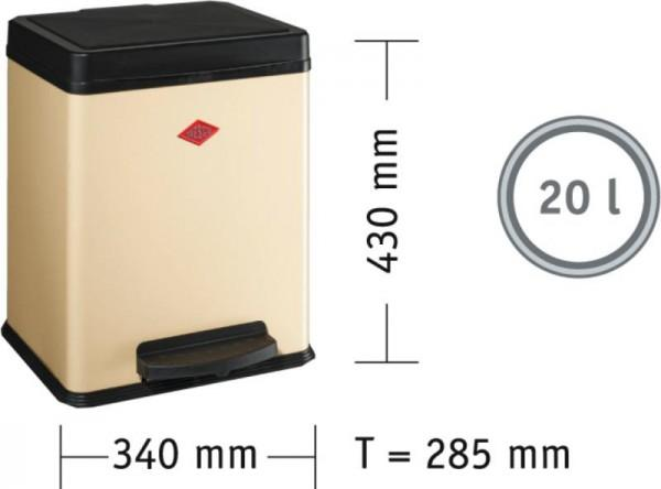 Öko-Sammler 380 (1x20 l) Edelstahl Kunststoff schwarz - WESC...