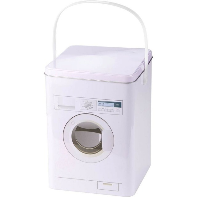 28-400111, Metall Aufbewahrungsbox Waschmittel, in Waschmaschinenoptik