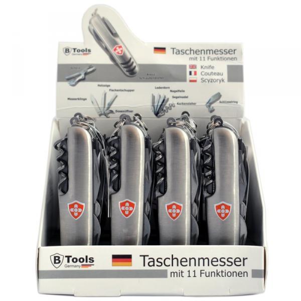 Taschenmesser mit 11 Funktionen im 12er Display