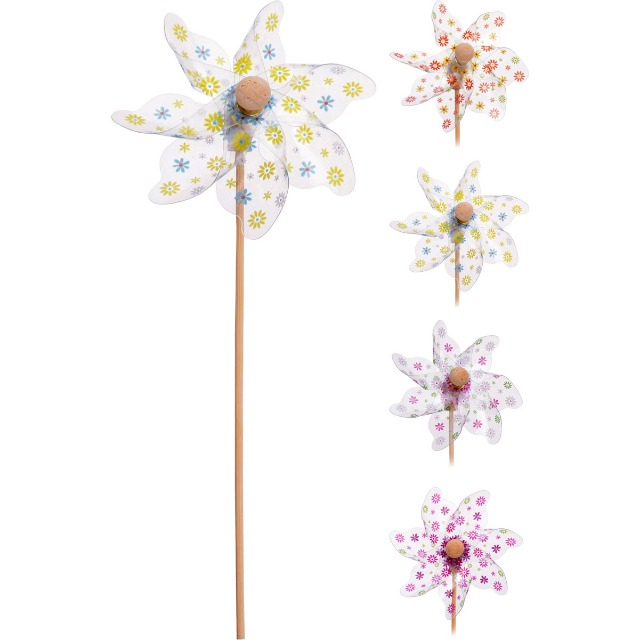 28-017469, Windmühle 47 cm lang auf Holzstab