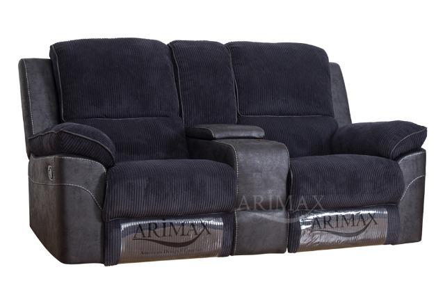 2-Sitzer-Sofa mit Liege und Konsole BROOKS