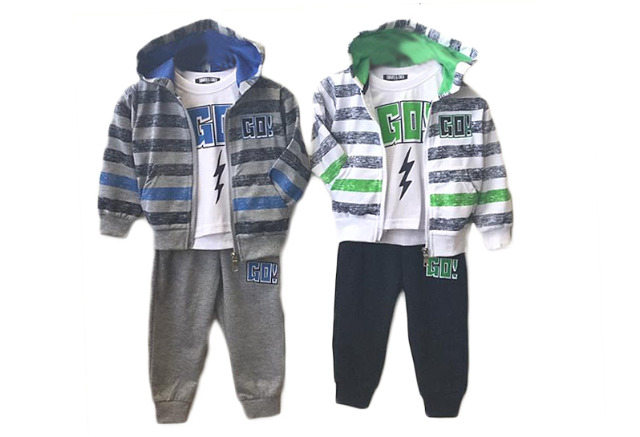 Kinder Baby Jungen Jogginganzug 3-teilig 12-36 Monate Sportanzug Trainingsanzug Kapuzenjacke T-Shirt Jogginghose - 8,49 Euro  1Lot: 10 Train