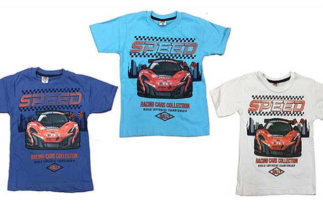 Kinder Jungen T-Shirt 116-146 Print Auto Speed Baumwolle Shirt Shirts Kurzarm Kindershirts Oberteil -3,90 Euro