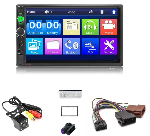 SCHENGEL 2-Din Autoradio, Bluetooth, Video, Navi, Kamera, ISO - NEUWARE