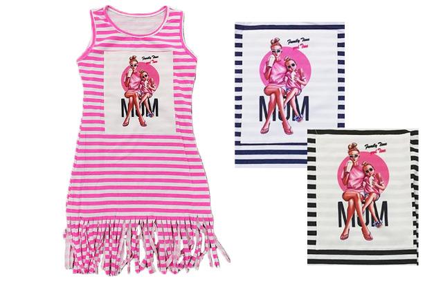 Kinder Kids Mädchen Fransen Kleid Streifen Kinderkleid Sommer Strand Freizeit 4-14 Jahre Kinder Ärmellos - 5,90 Euro