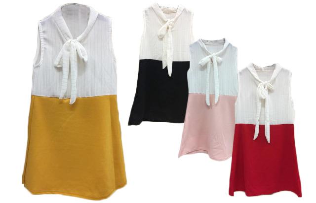 Kinder Kids Mädchen Trend Kleid Schleife Streifen Kinderkleid Sommer Festlich Freizeit 4-14 Jahre Kinder Ärmellos - 5,90 Euro