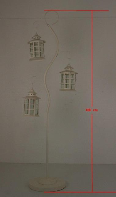 Deko Kerzenständer 180 cm Kerzen Ständer mit Laternen
