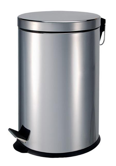 Edelstahl Mülleimer - Volumen 3 Liter mit Trittfunktion im neuen zeitlosen Design