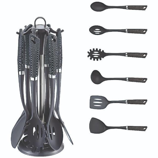 Küchenhelfer Set aus hochwertigem Carbon 7 teilig Sonderposten Knüller Angebot