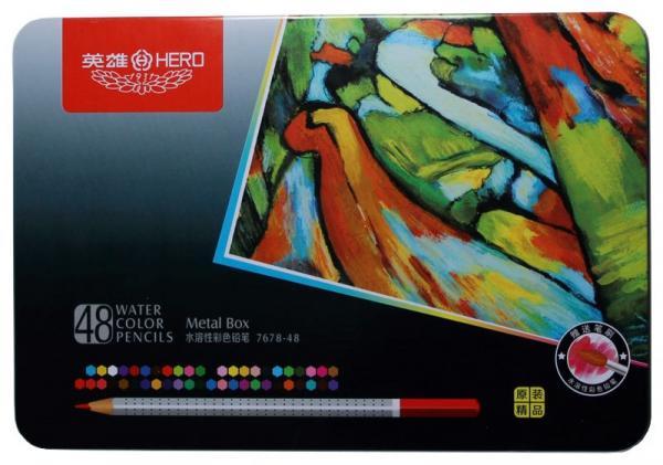 Aquarellfarbstifte wasserlöslich im Set 48 Stifte und Pinsel