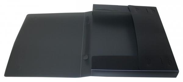 Dokumentenbox Sammelbox A4 mit Tragegriff transparent schwarz