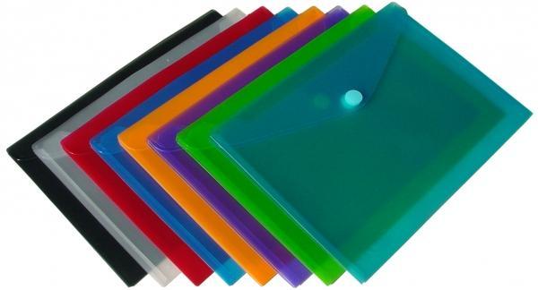 Dokumententaschen 120er Set A4 quer 6 Farben