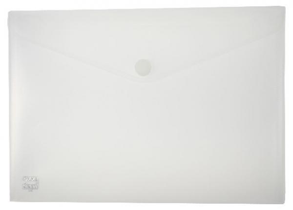 Dokumententaschen mit Klettverschluss A4 quer trans.natur - 10 Stück