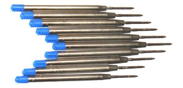 Großraum- Kugelschreibermine blau - 10 Stück
