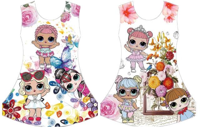 Kinder Mädchen Trend Kleid Sommer Strand Longshirt 4-14 Jahre Sweatshirt Oberteil Kindershirt Kurzarm - 4,90 Euro