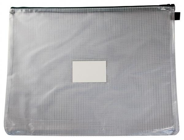 Kleinkrambeutel A3 mit Visitenkartentasche Zipper grün - 5 Stück