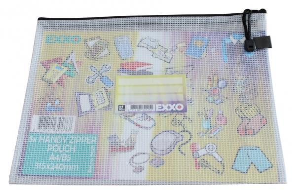 Kleinkrambeutel Zipp-Beutel A4 mit Visitenkartentasche Zipper blau 5 Stück