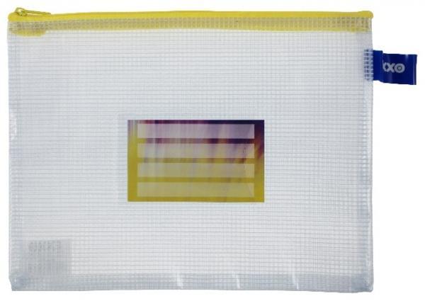 Kleinkrambeutel Zipp-Beutel A5 mit Visitenkartentasche Zipper gelb - 5 Stück