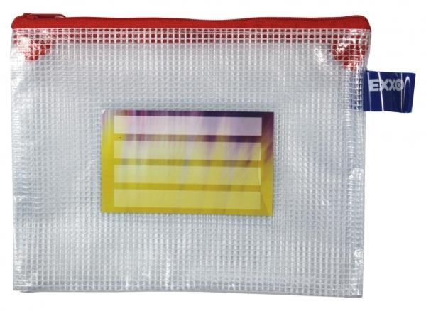 Kleinkrambeutel Zipp-Beutel A6 mit Visitenkartentasche Zipper rot - 5 Stück
