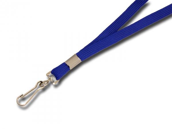 Umhängeband / Lanyards blau Simplexhaken - 10 Bänder