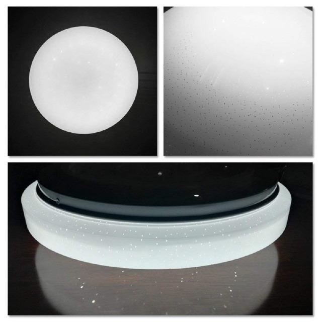 VINGO 12W Runde LED-Deckenleuchte Kaltweiß mit Starlight-Effekt