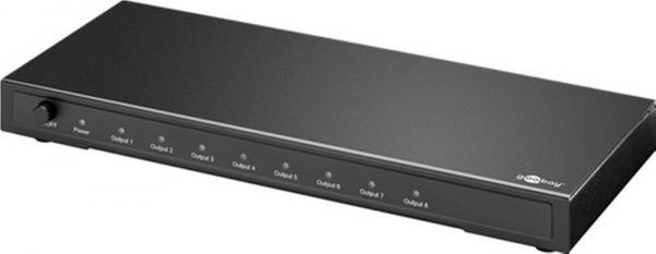 HDMI? Splitter Ultra HD 4K/2K, 1in / 8out - mit UK Netzteil, Schwarz