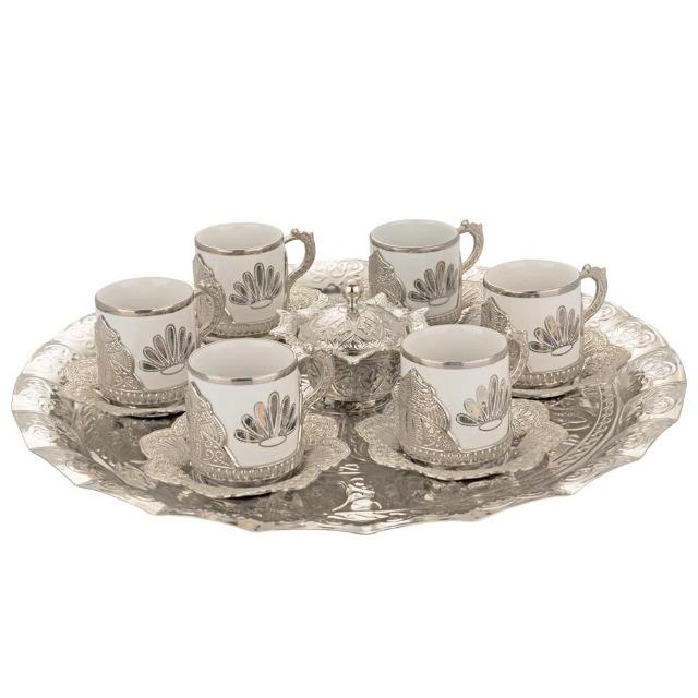 Kaffeeset 14 Teilig Kaffee Set Kaffeetasse Tassen Zuckerspender Tablett