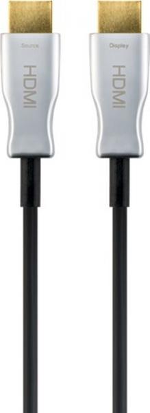 Optisches Hybrid HDMI? Kabel, vergoldet, 10m, Schwarz