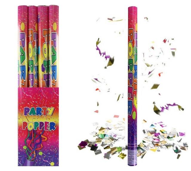 27-45423, Party Popper 80 cm, Konfettiwerfer, Partypopper, Konfettishooter, Konfettikanone, Party, Event, Silvester, Karneval, Fasching, usw