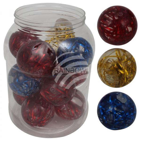 Springball Bouncing Ball, Dopsball, 13 Bälle im Behälter