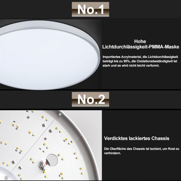Vingo 16W Farbwechsel Rund LED Deckenleuchte