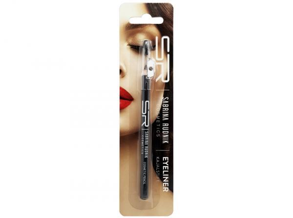 Kajalstifte schwarz mit Spitzer u. Schwammapplikator, Sabrina Rudnik Cosmetics, 14 cm auf Blister
