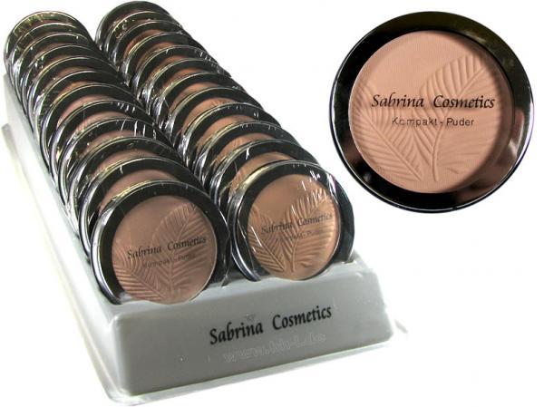 Kompaktpuder, 4 Farben sortiert, im 24er Display, von Sabrina Rudnik Cosmetics