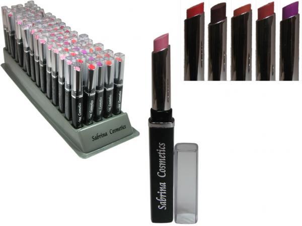 Lippenstift F9 20 Farben im 75er Display, von Sabrina Rudnik Cosmetics