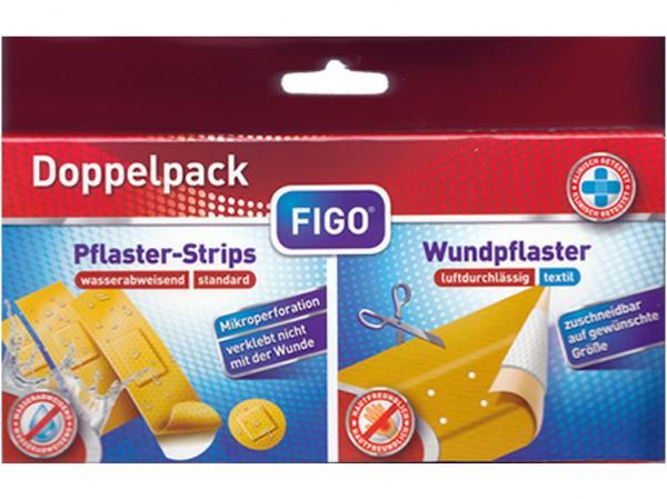 Pflaster Doppelpack Wundpflaster textil + Plaster-Strips standard