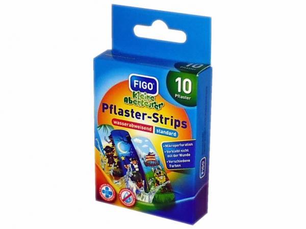 Pflaster-Strips 10-teilig für Kinder 56x18 mm / Kinderpflaster, Motiv ''Kleine Abenteurer''