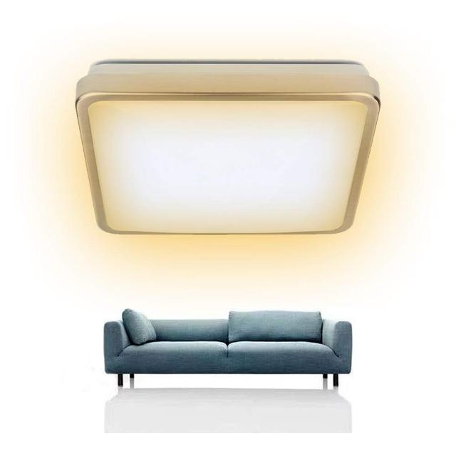 Vingo 12W Alu-matt Eckige LED Deckenleuchte Warmweiß