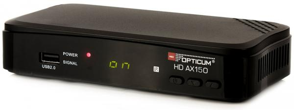 DVB-S2 Satelliten-Receiver AX HD 150 HDMI, Scart, Coaxial, Display