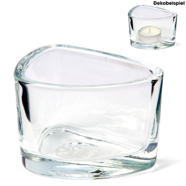 28-364413, Kerzenhalter aus Glas für Teelichter, Kerzen