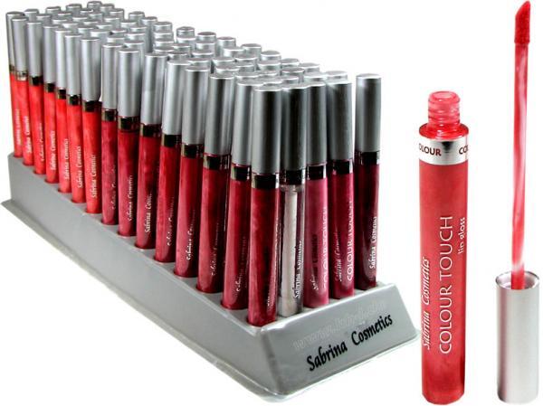 Lippenstift Lip Gloss ''Colour Touch'', 10 Rot-Töne, sortiert im 75er Displayaufsteller, Inhalt 7 ml