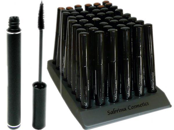 Mascara schwarz, 10 g, im 48er Displayaufsteller, teils mit 8 Brauntönen