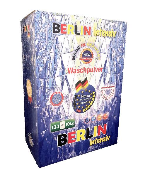 Berlin Vollwaschmittel Waschpulver 10 kg Karton - Premium Qualität -  MADE IN GERMANY -