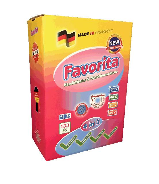 Favorita Vollwaschmittel Waschpulver 10 kg Karton - Premium Qualität - MADE IN GERMANY -